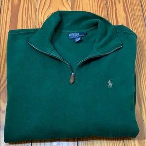 Polo by Ralph Lauren Green Quarter Zip Sweater